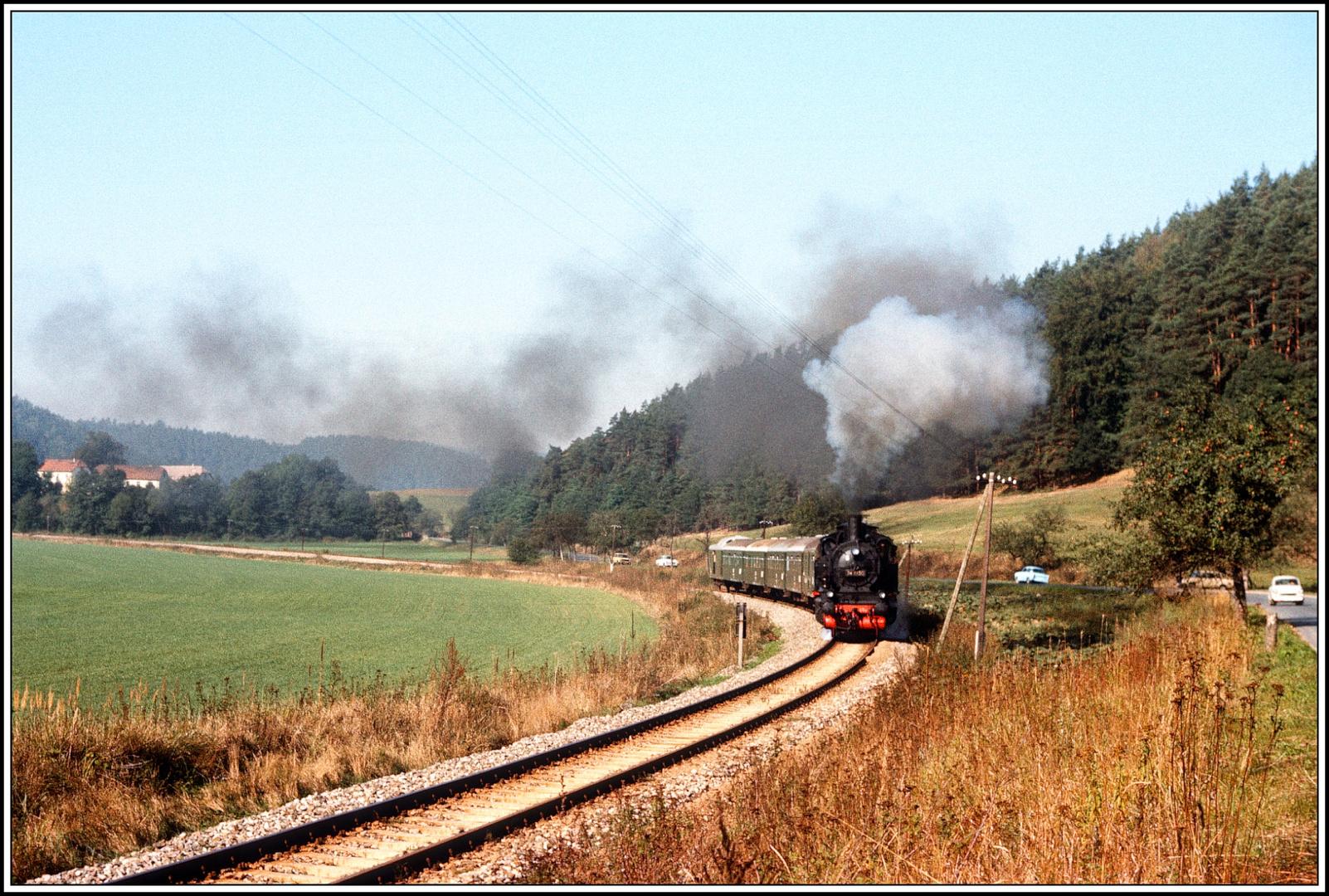 100 Jahre Orlabahn Oktober 1989 die 74 1230 auf der Strecke I