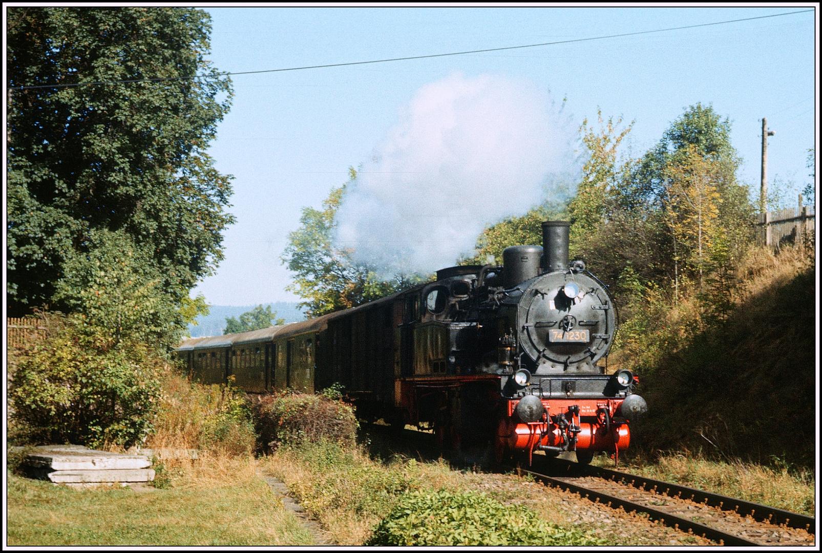 100 Jahre Orlabahn Oktober 1989 die 74 1230 auf der Strecke IV