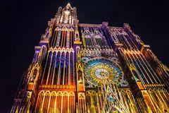 1000 Jahre Strasburger Münster. Illumination.