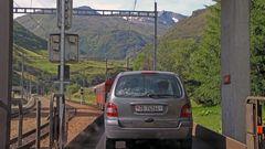 10.07. Uhr am 06.08. 2011 und im Autozug nach der der durchfahrt in Andermatt...