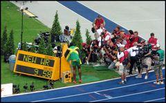100m Finale Herren NEW WORLD RECORD