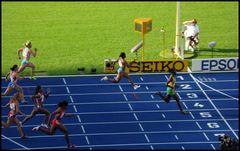 100m Frauen Ziel.