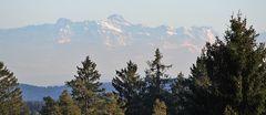 101 km weiter Blick zum 2503 Meter hohen Säntis, Altmann und vielen anderen