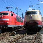 103 233 und 103 245 im Bw München Hbf
