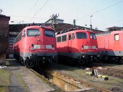 110 429 und 110 406 im Bw Frankfurt
