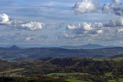 115 km Fernsicht vom höchsten Berg des Elbsandsteingebirges gestern zur Schneekoppe