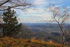 115km Durchblick zur Schneekoppe vom höchsten Gipfel des Elbsandsteingebirges Teil 2