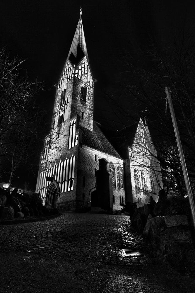 Sankt juergenskirche flensburg foto bild architektur architektur bei nacht - Architektur flensburg ...
