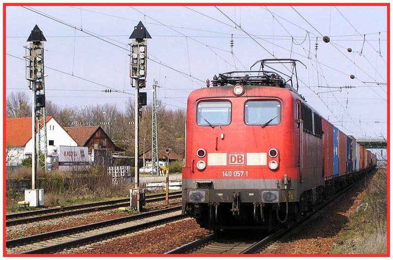 140 057 vor Gz durch Graben-Neudorf, KBS 702, 29.3.07