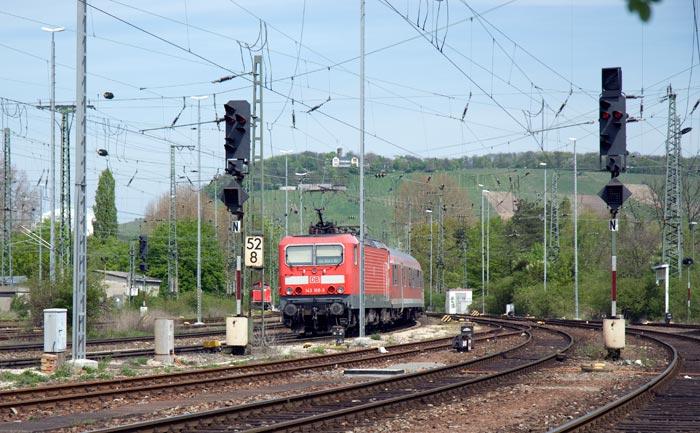 143106 mit ein Zug von Würzburg, bei Heilbronn, Avril 08