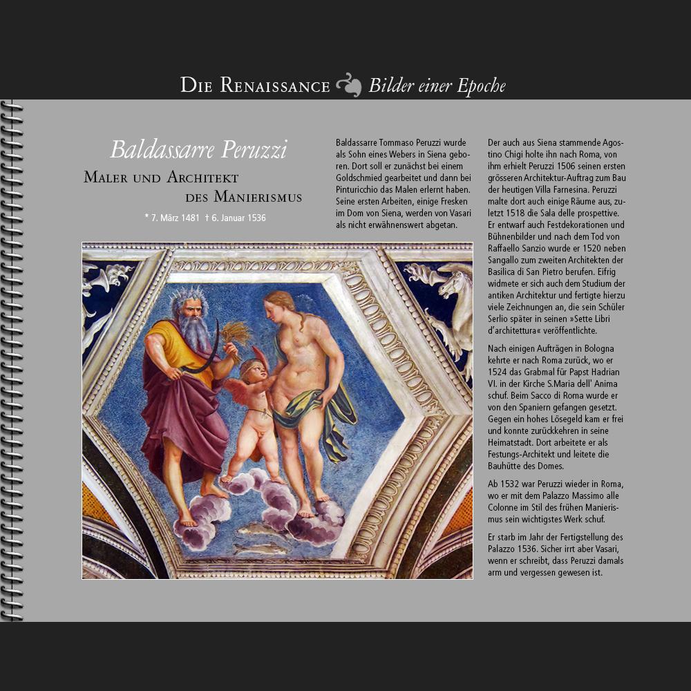 1481 • Baldassarre Peruzzi | Maler und Architekt des Manierismus