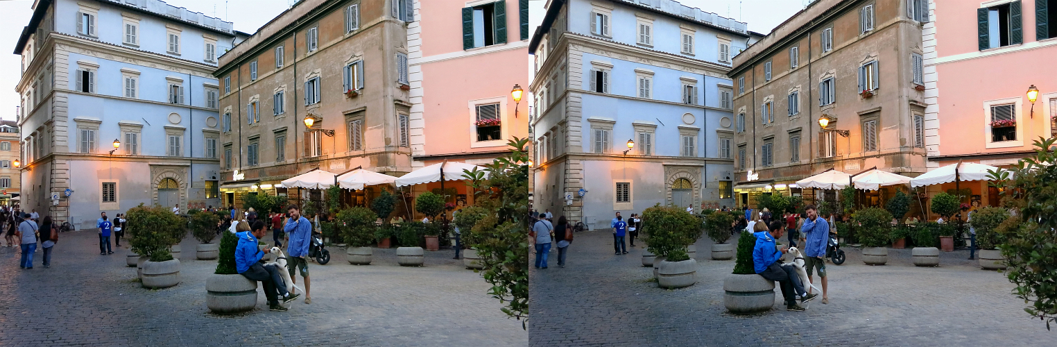 _ 15. Stadt Rom / PIAZZA DI S. CALISTO Trastevere / X View _
