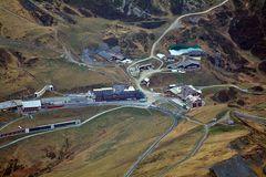 1500 m Tiefblick zur Kleinen Scheideg