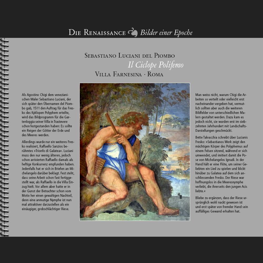 1511 • Piombo | Il Ciclope Polifemo | Galatea | Villa Farnesina · Roma