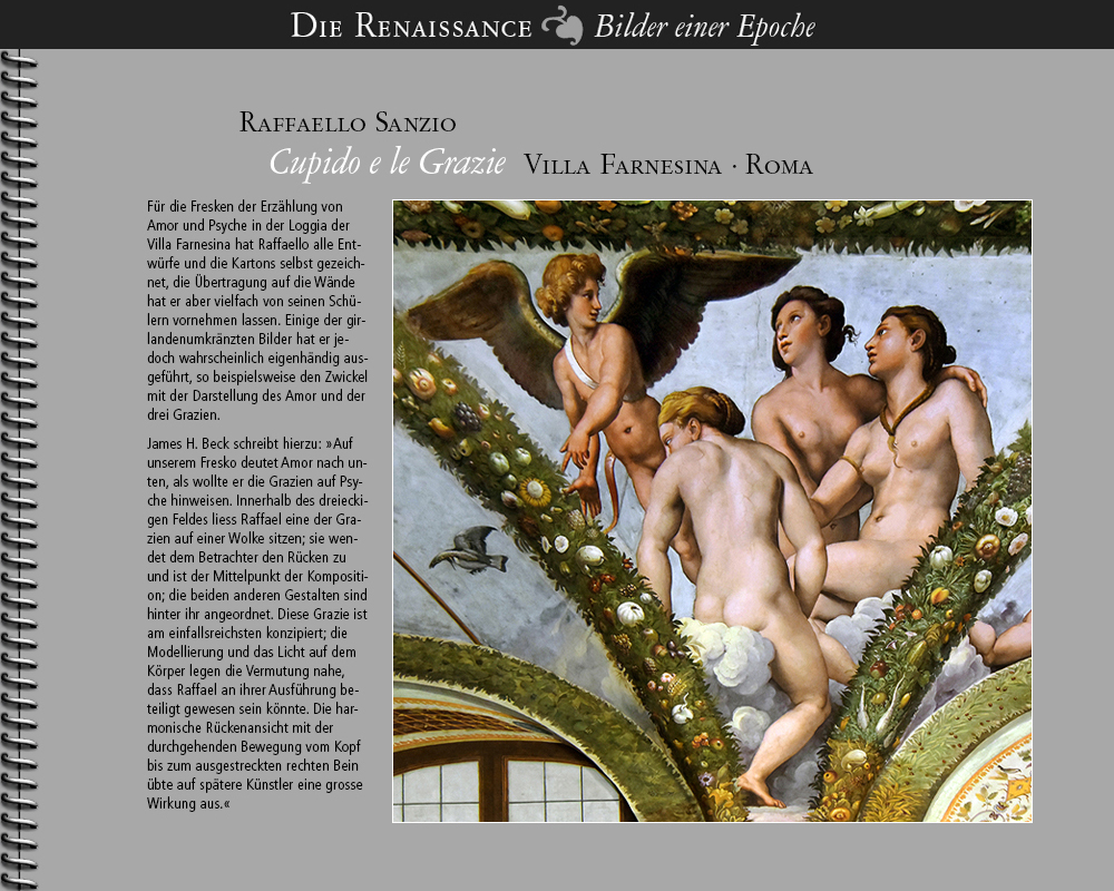1512 • Raffaello Sanzio | Cupido e le Grazie | Villa Farnesina · Roma