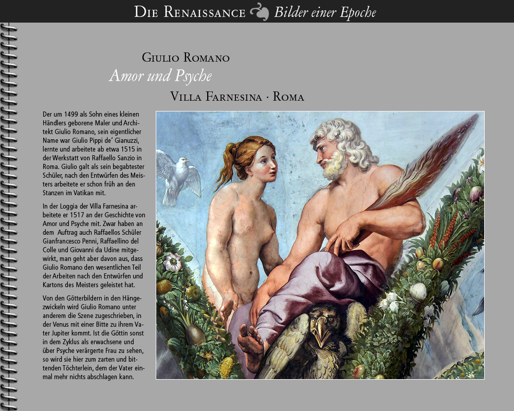 1517 • Giulio Romano | Venere con Giove | Villa Farnesina · Roma