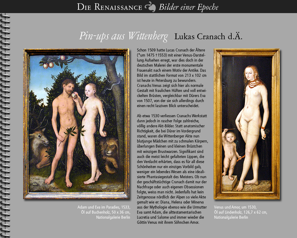 1530 • Lucas Cranach d.Ä.   Pin-ups aus Wittenberg