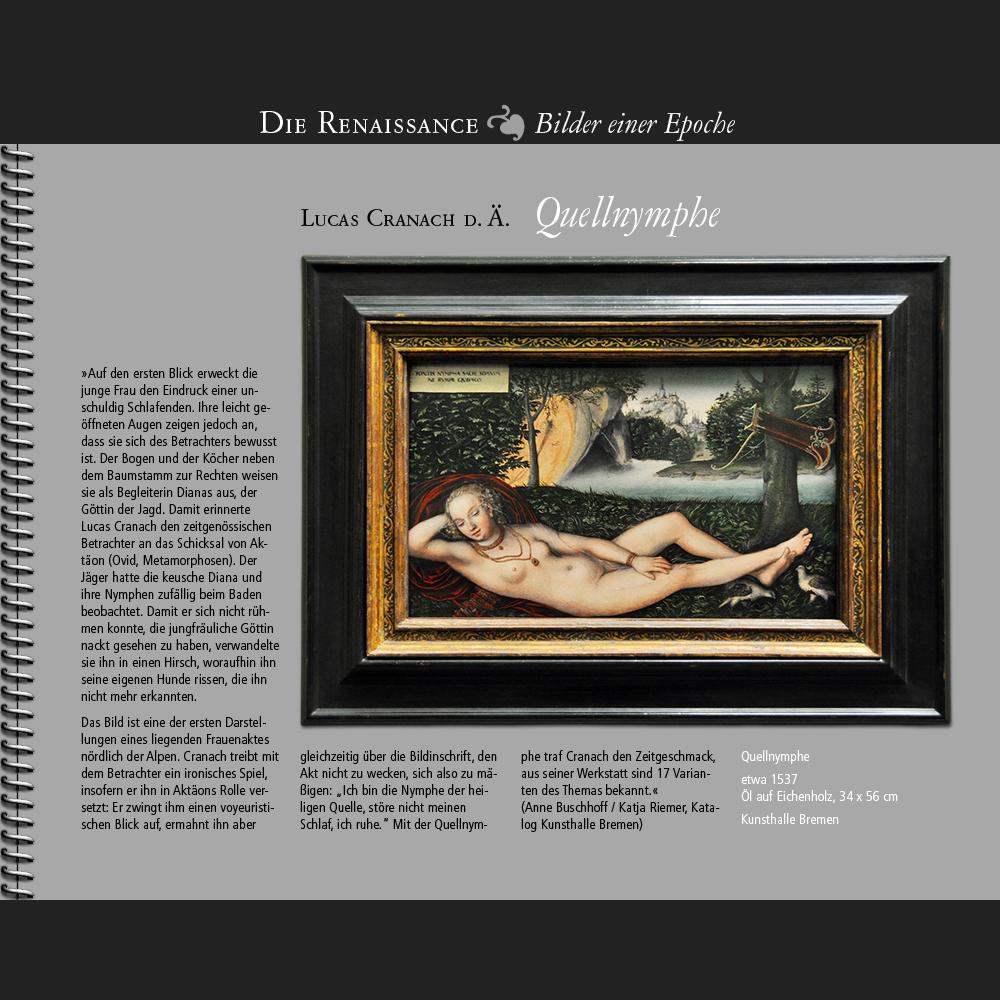 1537 • Lucas Cranach d.Ä.   Die Bremer Quellnymphe