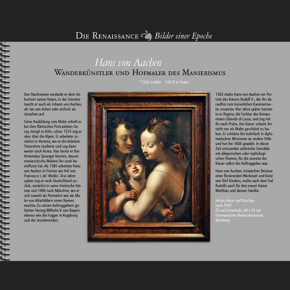 1552 • Hans von Aachen   Venus, Amor und Bacchus