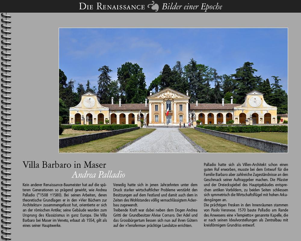 1554 • Maser | Villa Barbaro