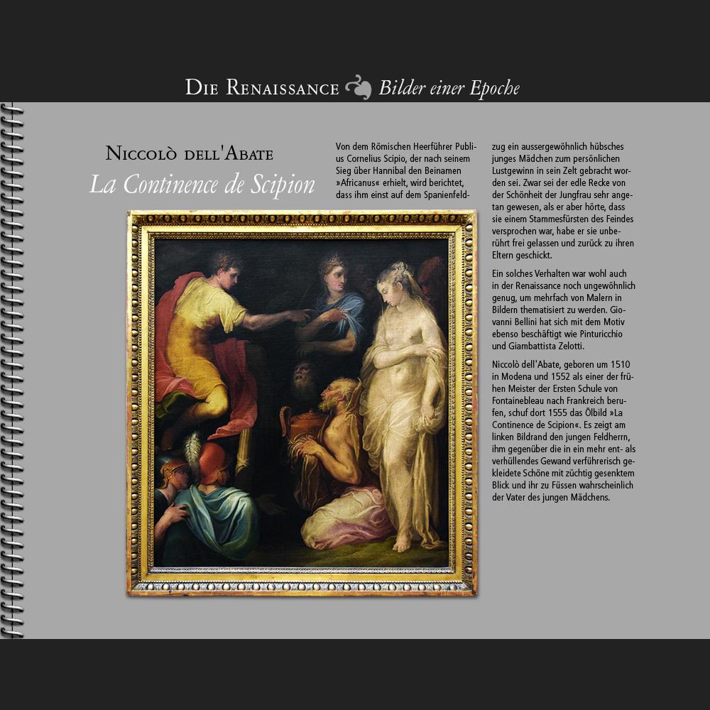 1555 • Niccolò dell'Abate | La Continence de Scipion