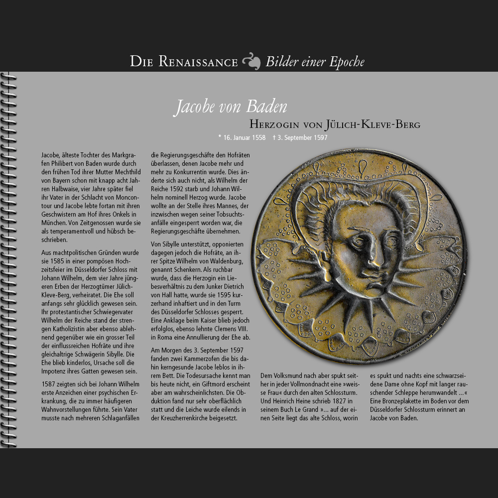 1558 • Jacobe von Baden | Herzogin von Jülich-Kleve-Berg