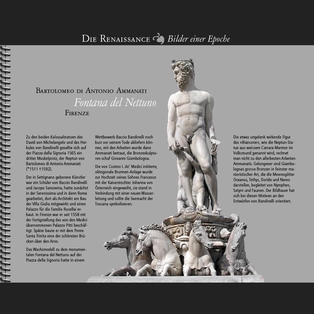 1565 • Bartolomeo di Antonio Ammanati   Fontana del Nettuno