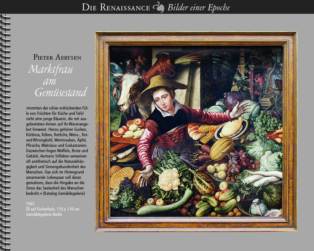1567 • Pieter Aertsen   Marktfrau am Gemüsestand