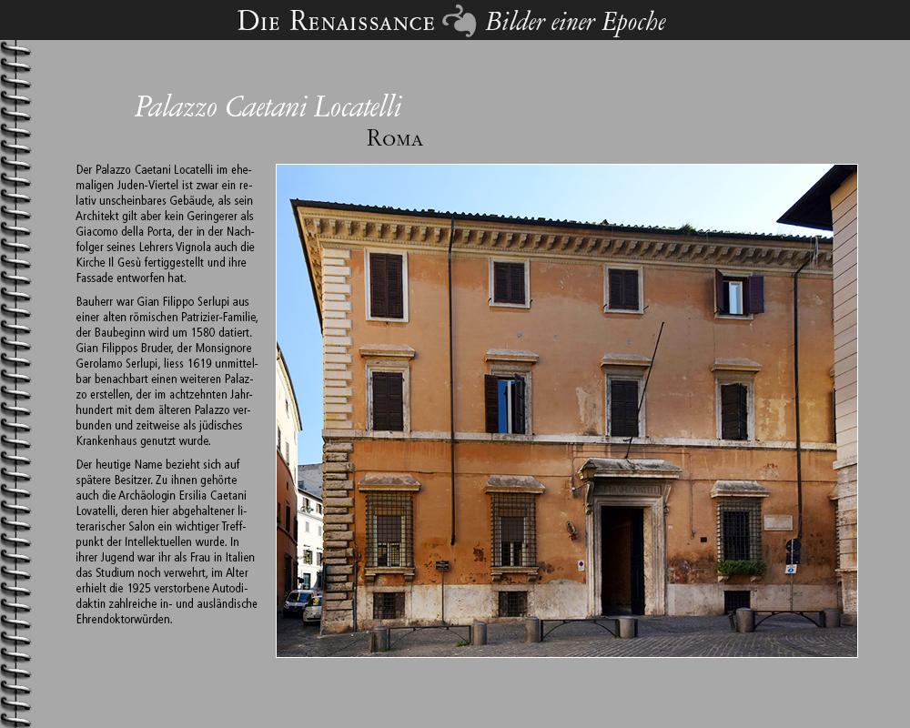 1580 • Roma   Palazzo Caetani Locatelli