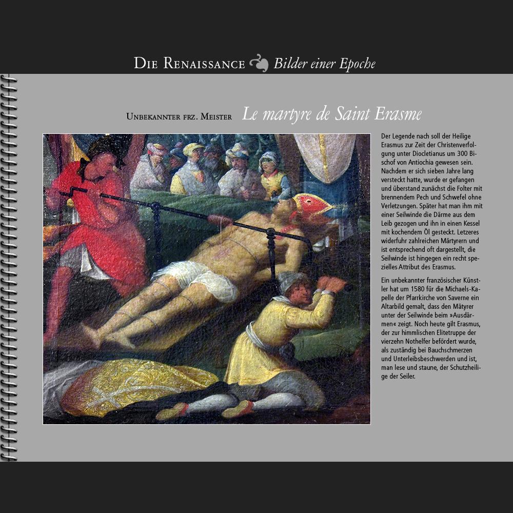1580 • Unbekannter frz. Meister   Le martyre de Saint Erasme