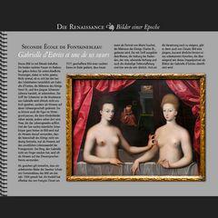 1594 • Seconde École de Fontainebleau | Gabrielle d'Estrées et une de ses sœurs