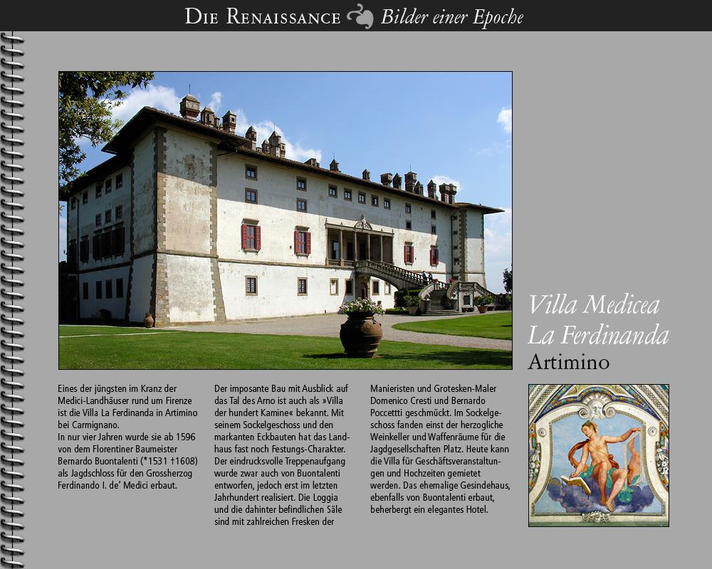 1596 • Villa Medicea Ferdinanda, Artimino