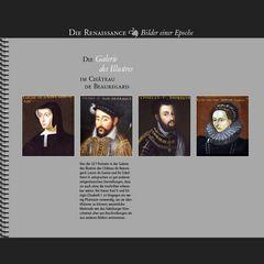 1620 • Château de Beauregard | Vier Portraits aus der Galerie des Illustres