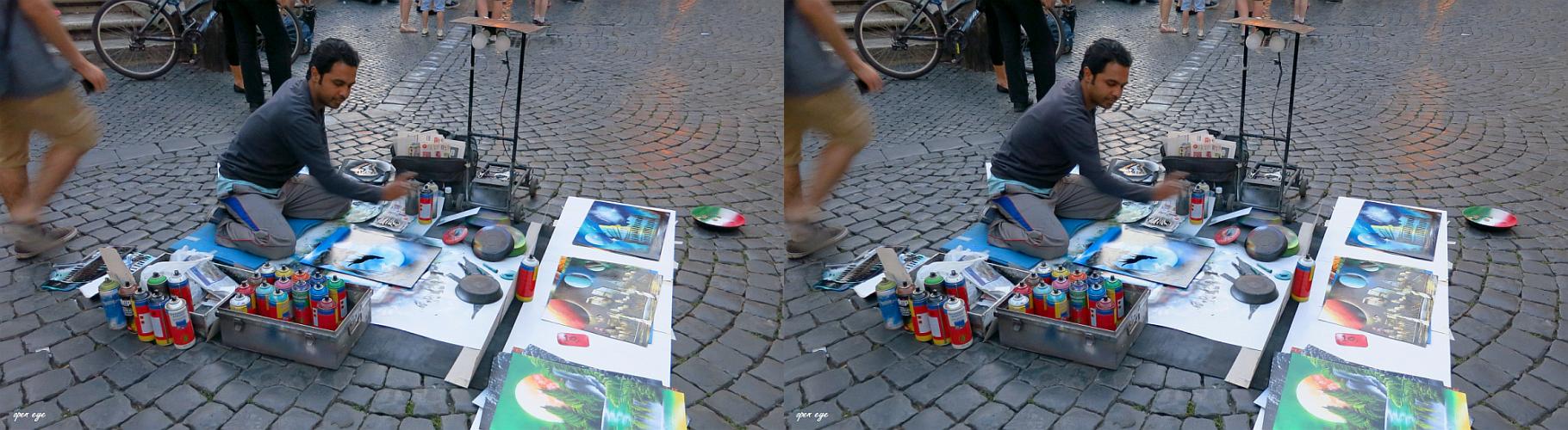 _ 17. Stadt Rom / Piazza Santa Maria in Trastevere / X View