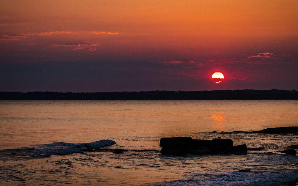 1805-544 Sonnenuntergang am Mitjornstrand