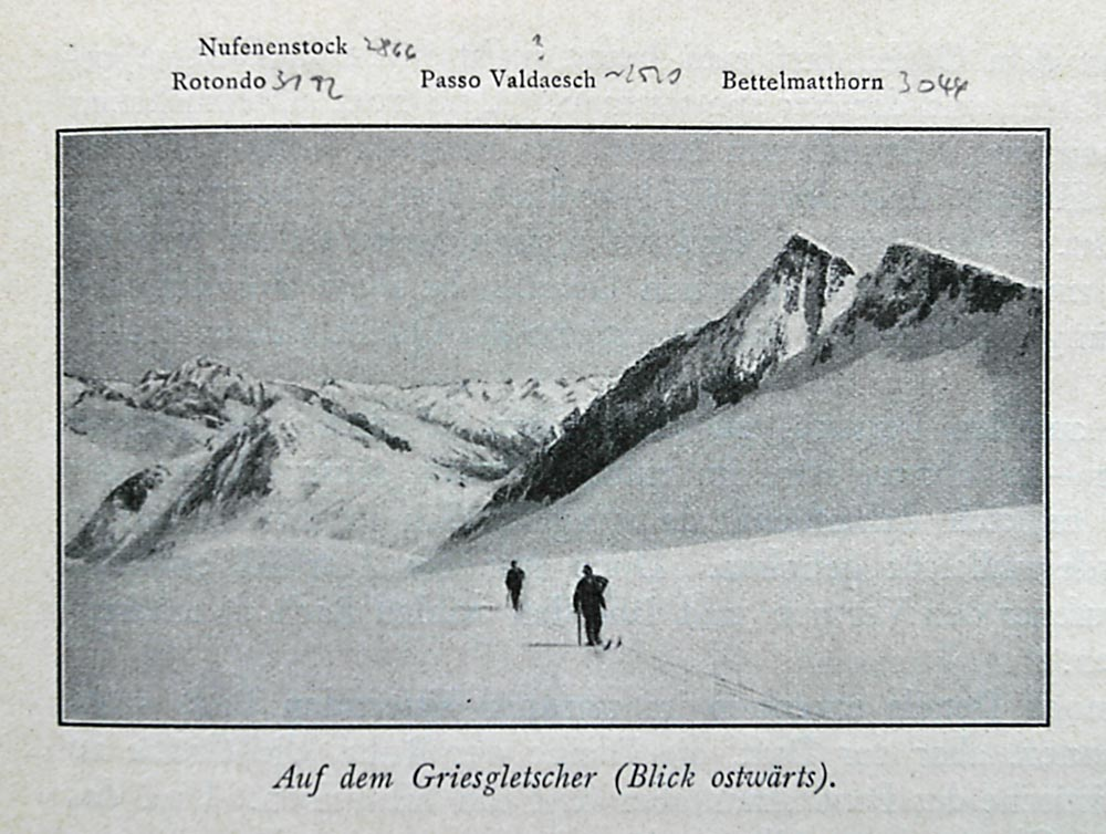 1902 - Auf dem Griesgletscher