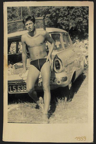 1959 - auch ich war ein Jüngling mit lockigem Haar !