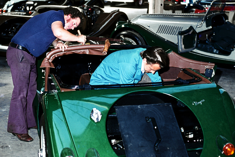 1978: Morgan Motors in Malvern Link (3)