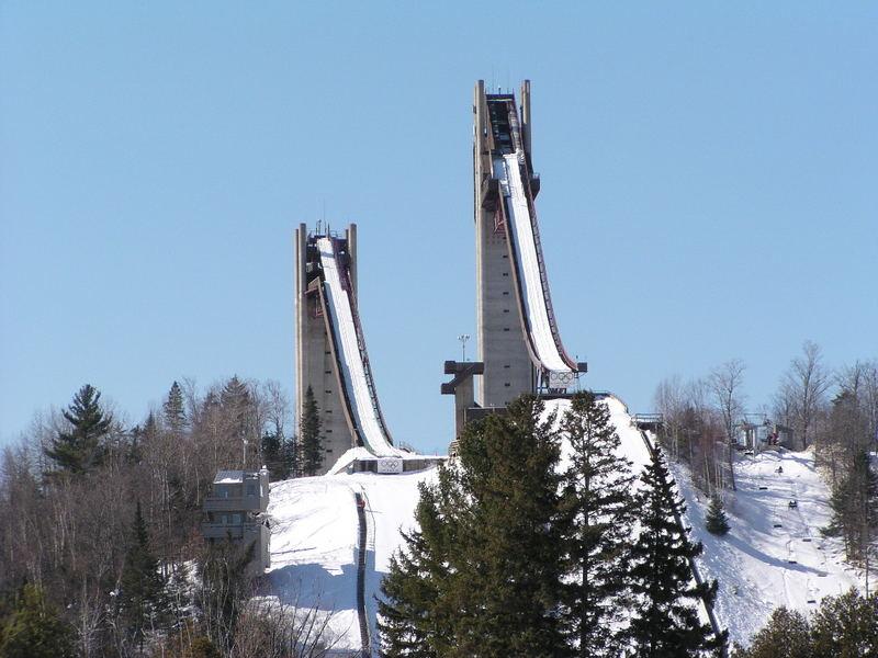 1980 Winter Olympic Ski Jumps in Lake Placid, NY