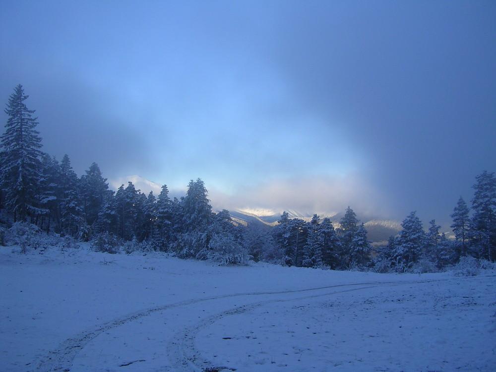 1ère neige fin octobre alpes de hautes provence