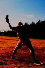 * 1st base at sunset *