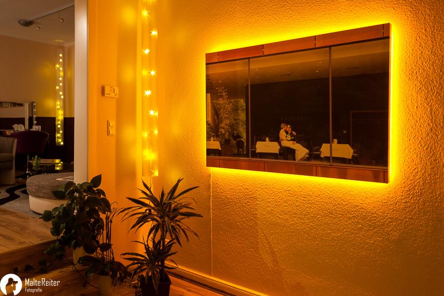 1 x5m foto auf leinwand mit led beleuchtung foto bild architektur innenaufnahmen. Black Bedroom Furniture Sets. Home Design Ideas