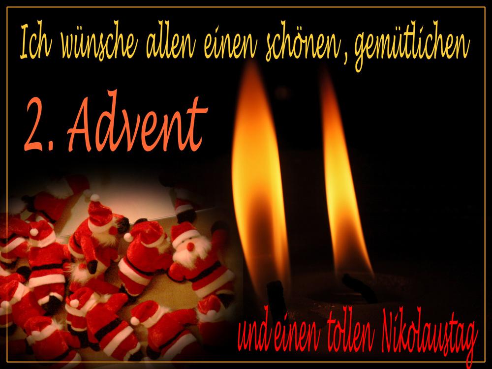 2 advent und nikolaustag foto bild gratulation und. Black Bedroom Furniture Sets. Home Design Ideas