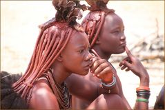 2 Frauen Himba Namibia Na-40col +6Fotos