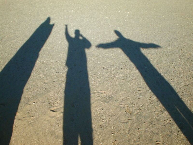2 Menschen in der Wüste.....