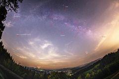 2. Version: Milchstraße vom Pfänder aus