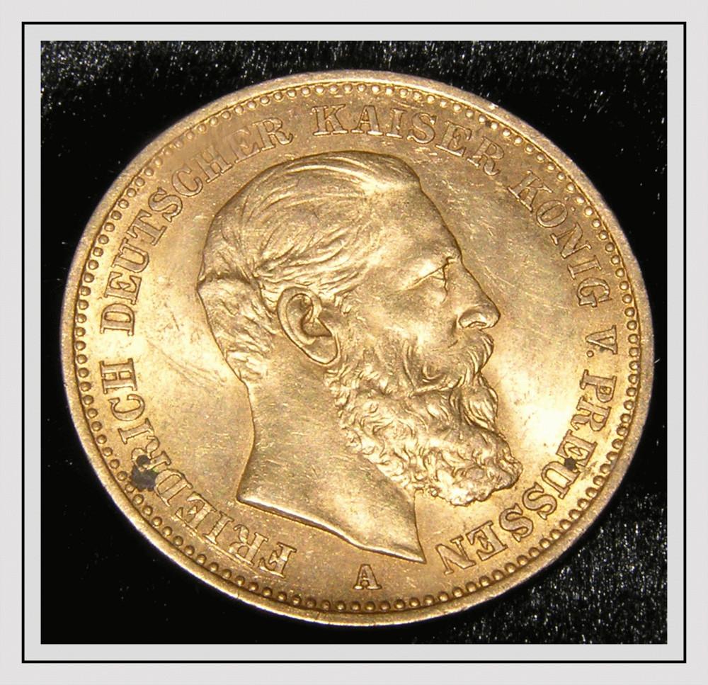 20 Goldmark Foto Bild Stillleben Geld Münzen Usw Motive