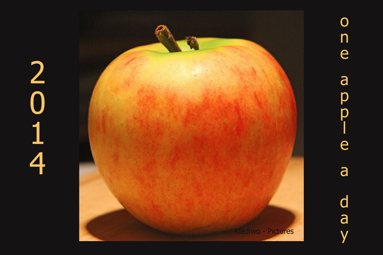 2014 - One apple a day ..............