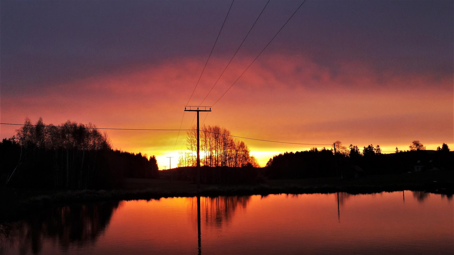 20210511 Sonnenaufgang  über Seerosenteich 5 Uhr 28