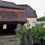20210701  Freilandmuseum Bad Windsheim Dorfplatz mit Bauerngärtla